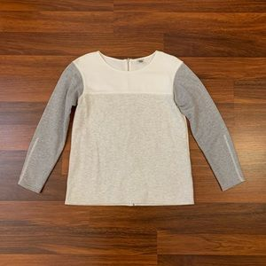 J.Crew Gray and White Sweatshirt